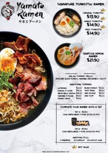 yamato ramen menu